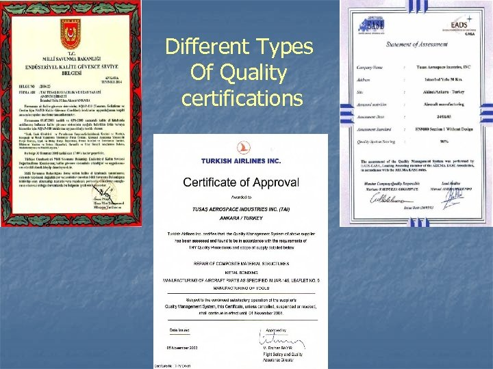 Different Types Of Quality certifications