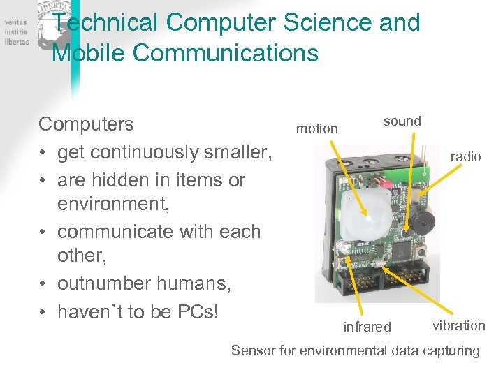 Technical Computer Science and Mobile Communications Computers • get continuously smaller, • are hidden
