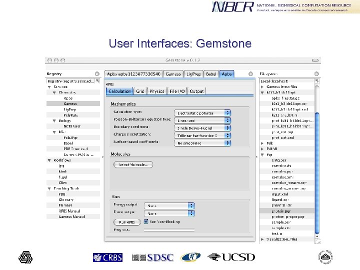 User Interfaces: Gemstone