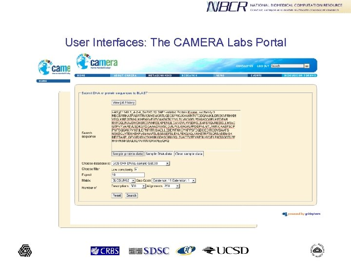 User Interfaces: The CAMERA Labs Portal