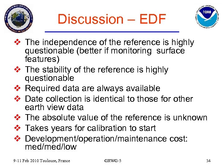 Discussion – EDF v The independence of the reference is highly questionable (better if