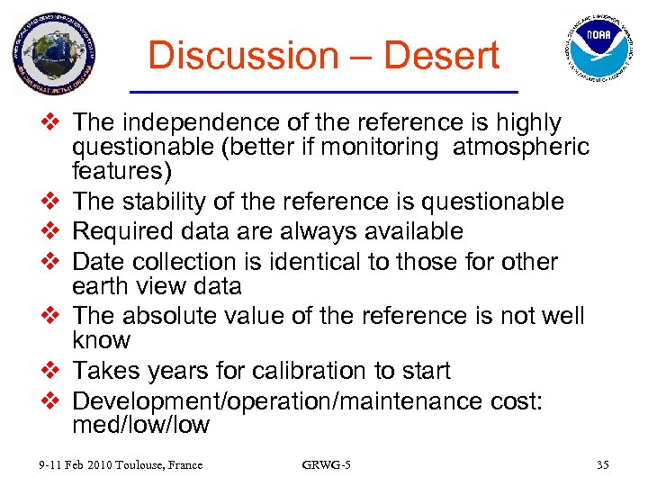 Discussion – Desert v The independence of the reference is highly questionable (better if