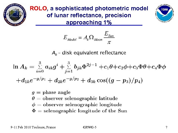 ROLO, a sophisticated photometric model of lunar reflectance, precision approaching 1% Ak – disk