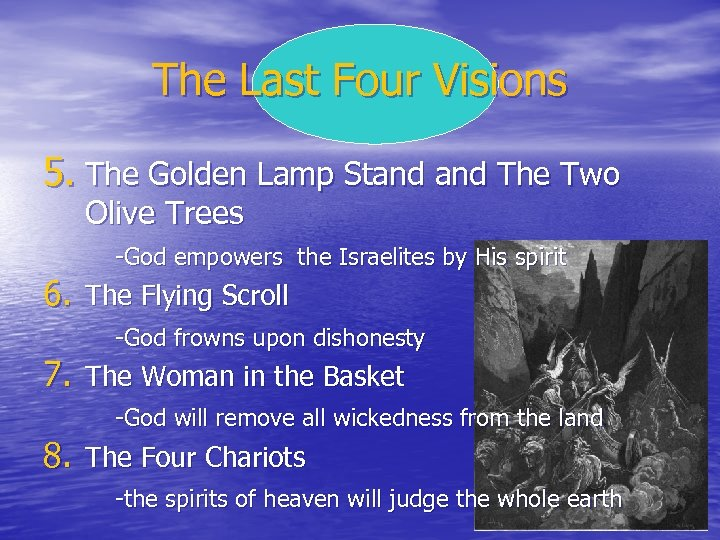 The Last Four Visions 5. The Golden Lamp Stand The Two Olive Trees -God