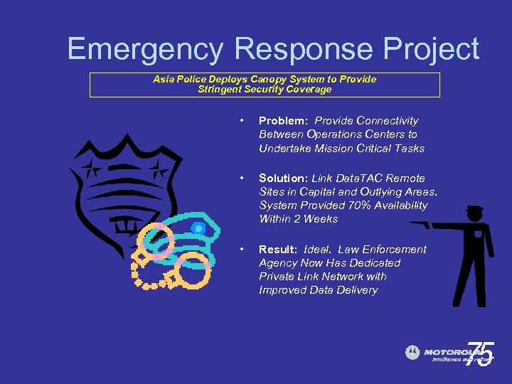 Emergency Response Project Asia Police Deploys Canopy System to Provide Stringent Security Coverage •