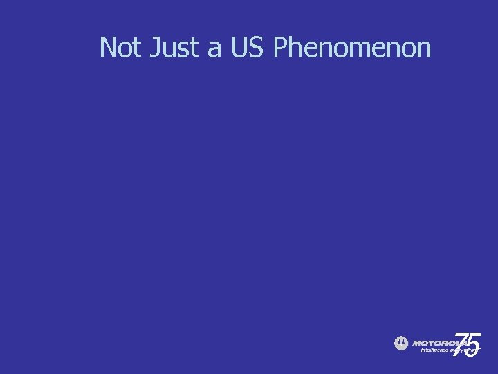 Not Just a US Phenomenon