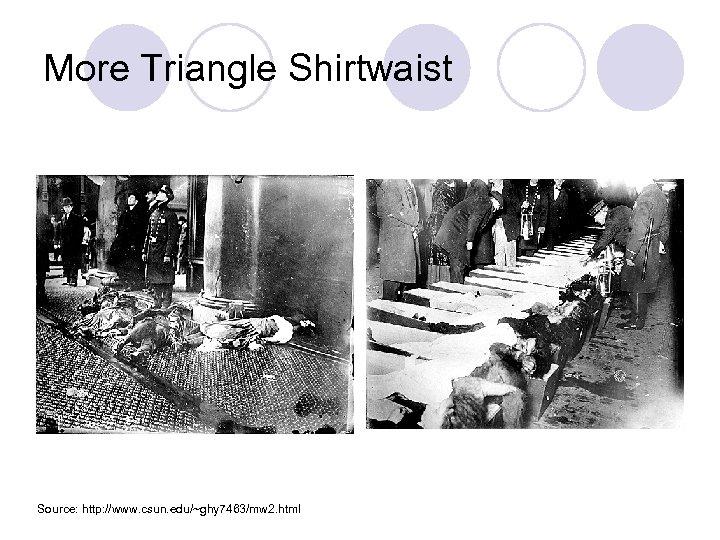 More Triangle Shirtwaist Source: http: //www. csun. edu/~ghy 7463/mw 2. html