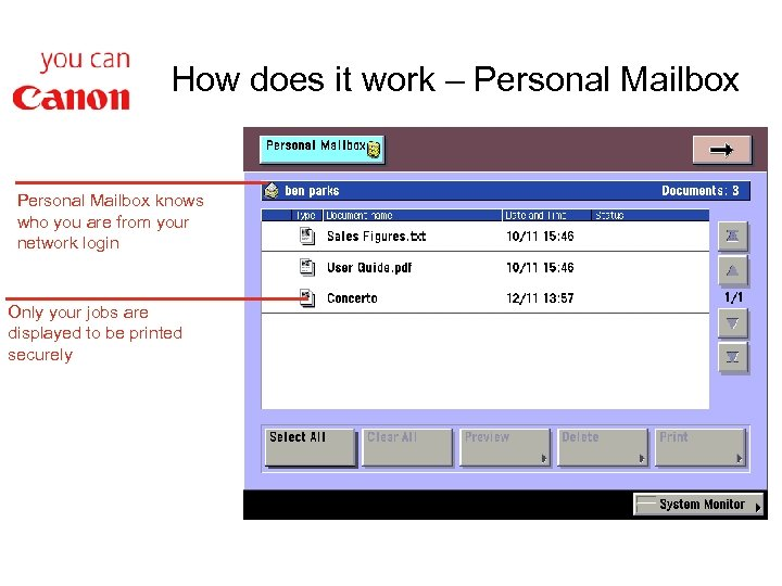 How does it work – Personal Mailbox knows who you are from your network