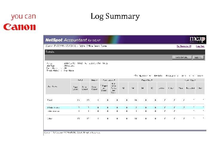 Log Summary