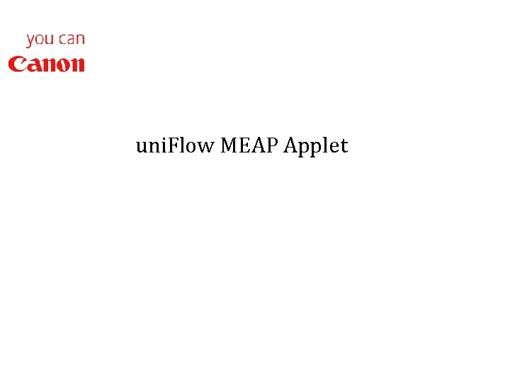 uni. Flow MEAP Applet