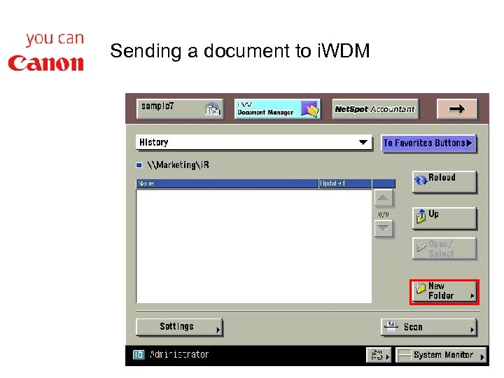 Sending a document to i. WDM
