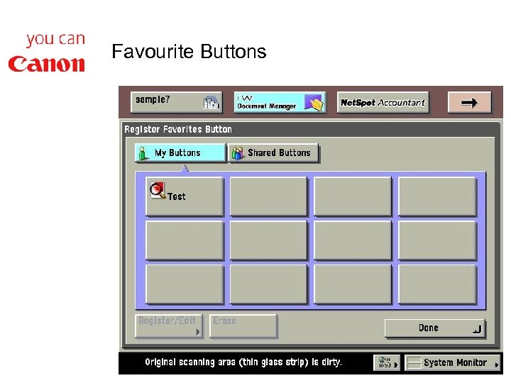 Favourite Buttons