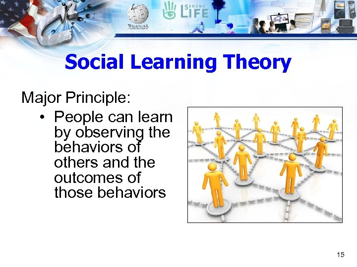 Social Learning Theory Major Principle: • People can learn by observing the behaviors of