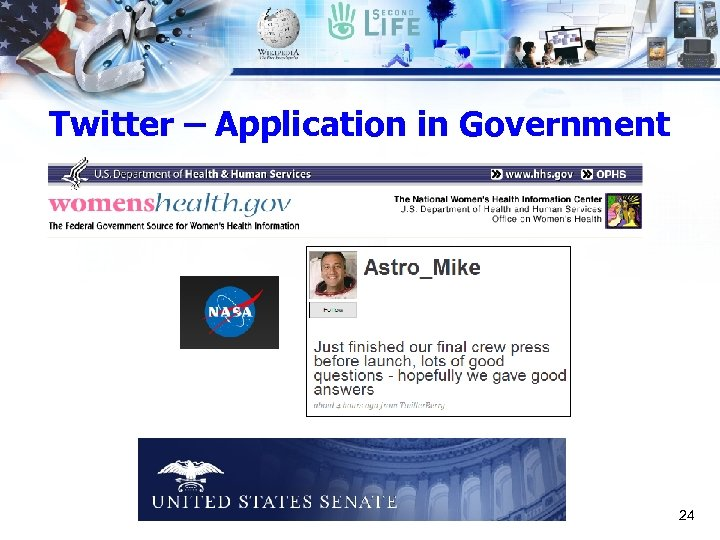 Twitter – Application in Government 24