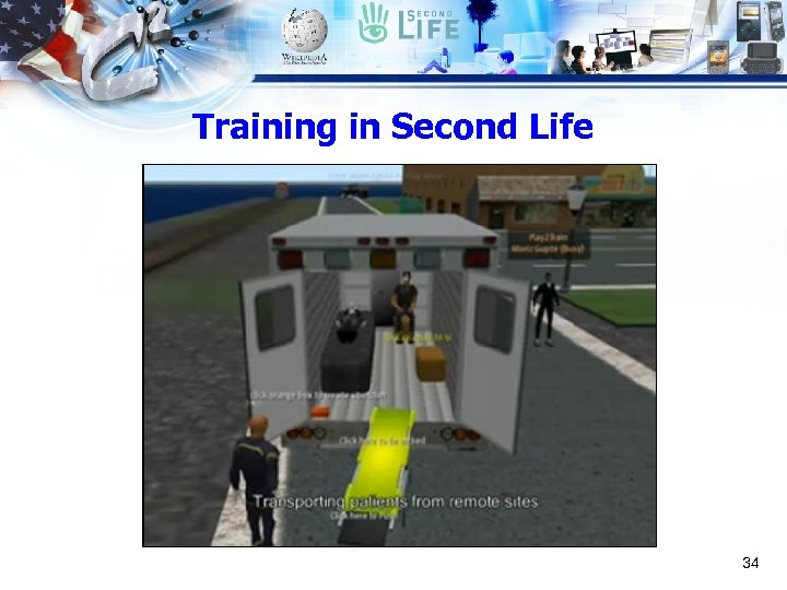 Training in Second Life 34
