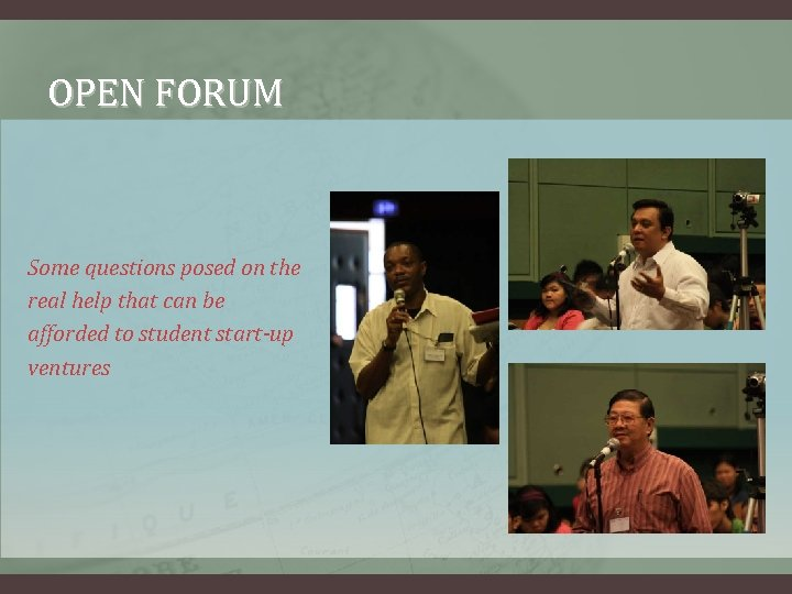 OPEN FORUM Some questions posed on the real help that can be afforded to