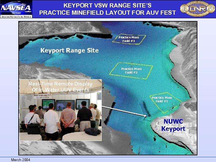 KEYPORT VSW RANGE SITE'S PRACTICE MINEFIELD LAYOUT FOR AUV FEST Practice Mine Field #3