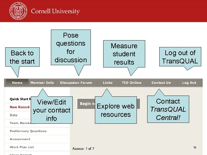 Back to the start Pose questions for discussion View/Edit your contact info Measure student