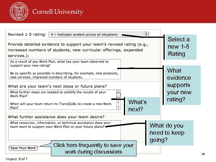 Select a new 1 -5 Rating What's next? Click here frequently to save your