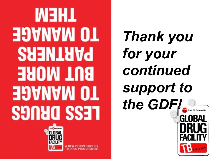 Thank you for your continued support to the GDF!