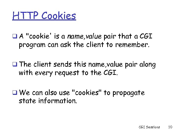 HTTP Cookies q A