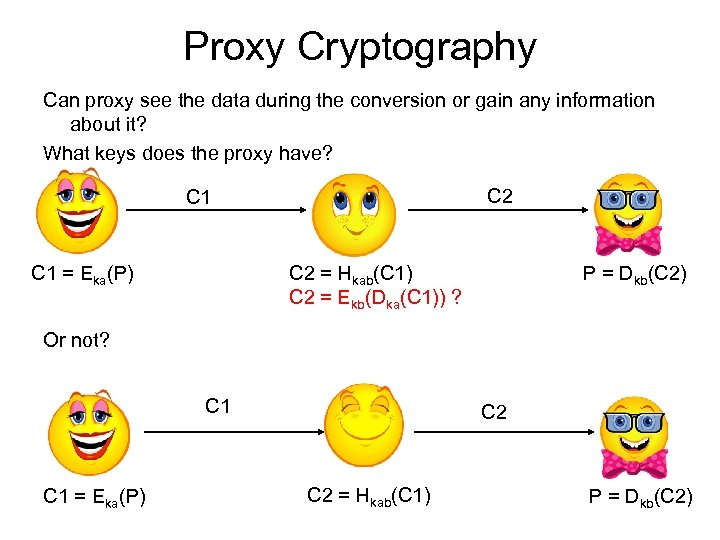 Proxy Cryptography Can proxy see the data during the conversion or gain any information