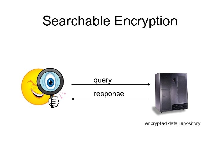Searchable Encryption query response encrypted data repository