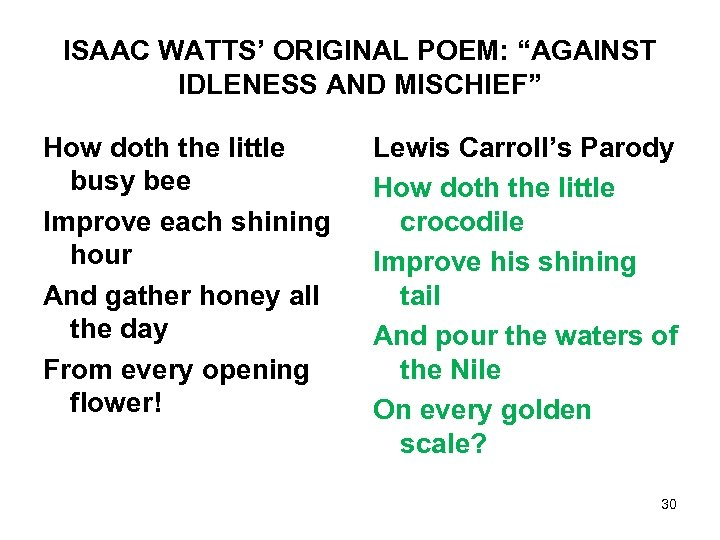 """ISAAC WATTS' ORIGINAL POEM: """"AGAINST IDLENESS AND MISCHIEF"""" How doth the little busy bee"""
