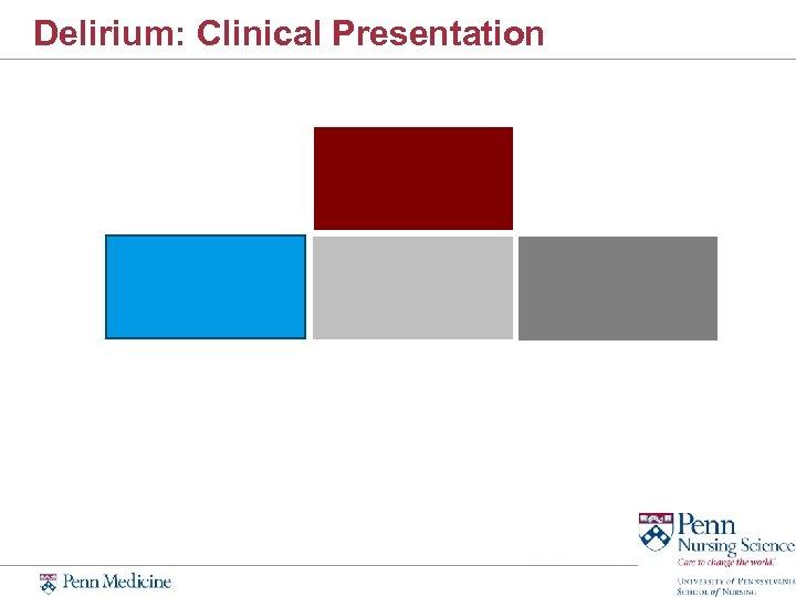 Delirium: Clinical Presentation
