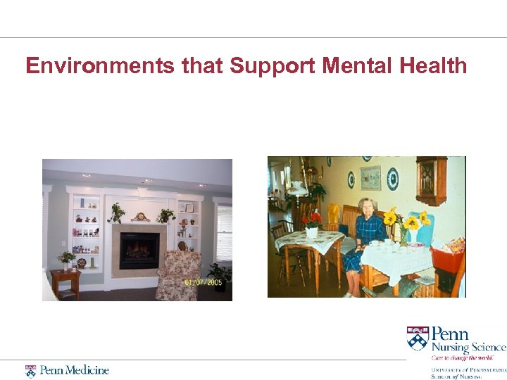Environments that Support Mental Health
