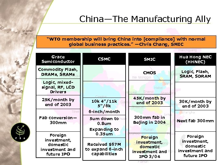 "China—The Manufacturing Ally ""WTO membership will bring China into [compliance] with normal global business"