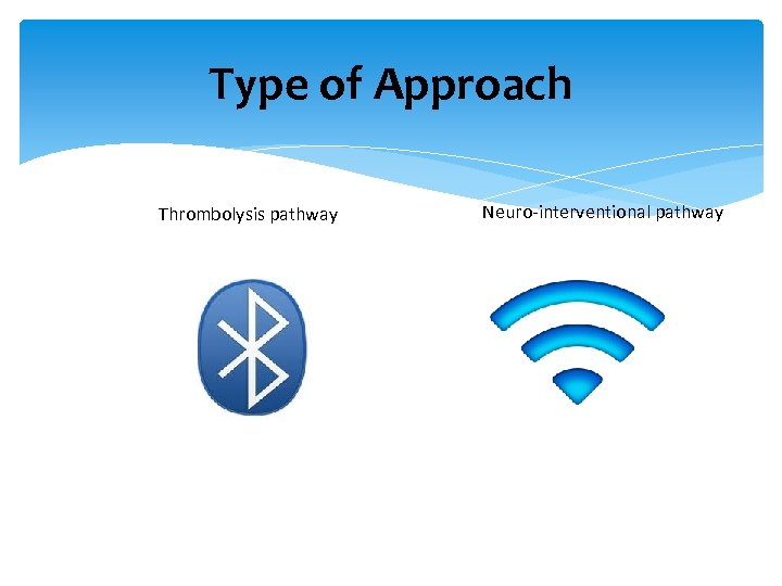 Type of Approach Thrombolysis pathway Neuro-interventional pathway