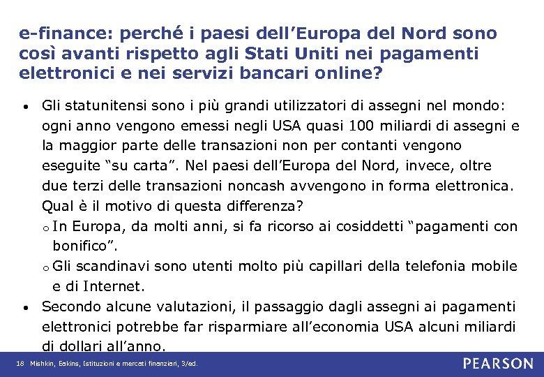 e-finance: perché i paesi dell'Europa del Nord sono così avanti rispetto agli Stati Uniti