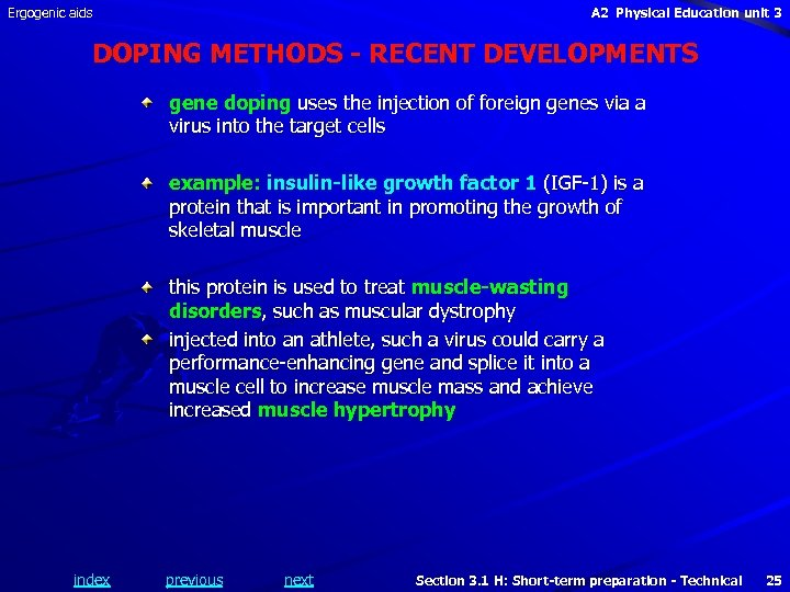 Ergogenic aids A 2 Physical Education unit 3 DOPING METHODS - RECENT DEVELOPMENTS gene