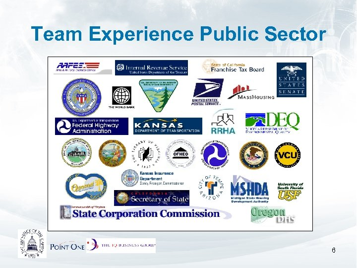 Team Experience Public Sector 6