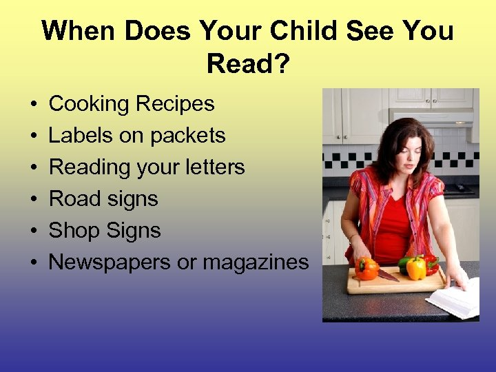 When Does Your Child See You Read? • • • Cooking Recipes Labels on
