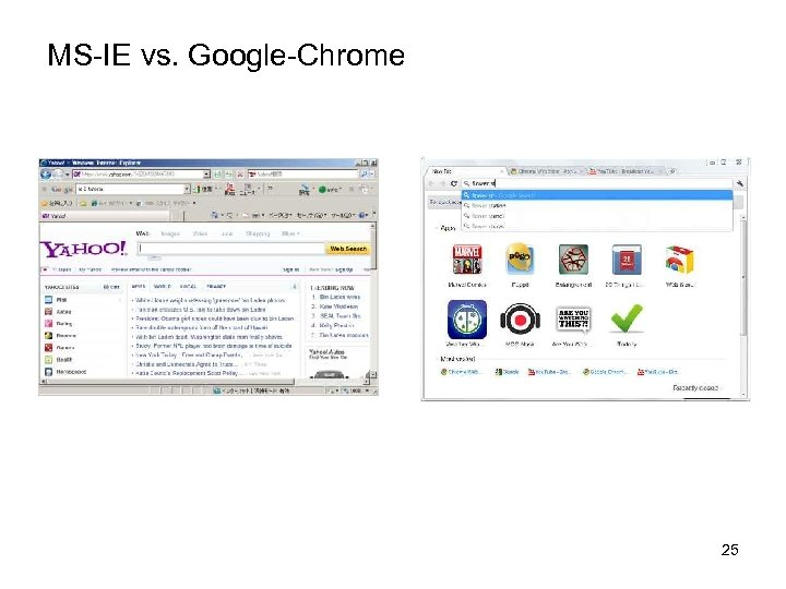 MS-IE vs. Google-Chrome 25
