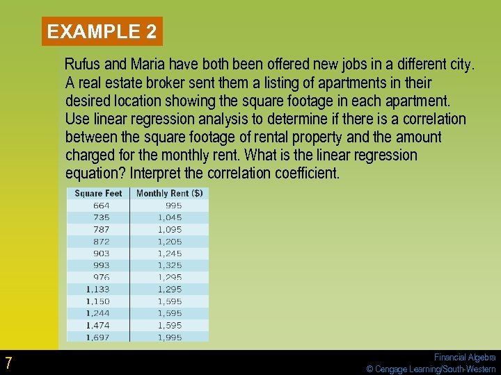 EXAMPLE 2 Rufus and Maria have both been offered new jobs in a different