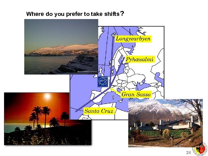 Where do you prefer to take shifts? 24