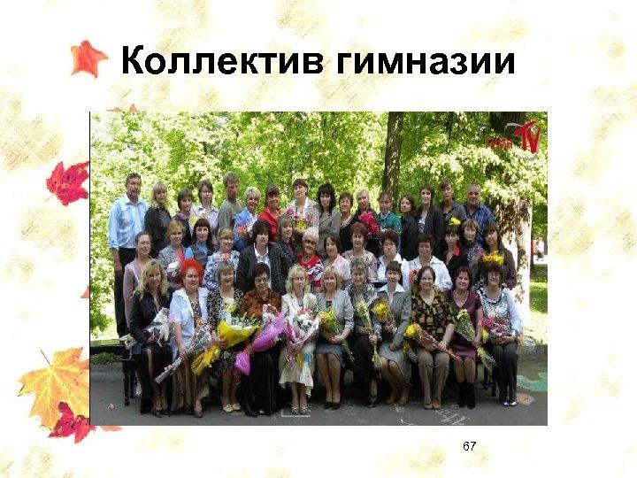 Коллектив гимназии 67