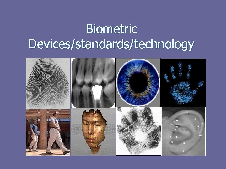 Biometric Devices/standards/technology