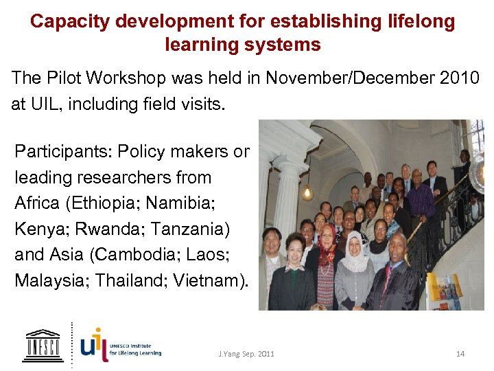 Capacity development for establishing lifelong learning systems The Pilot Workshop was held in November/December