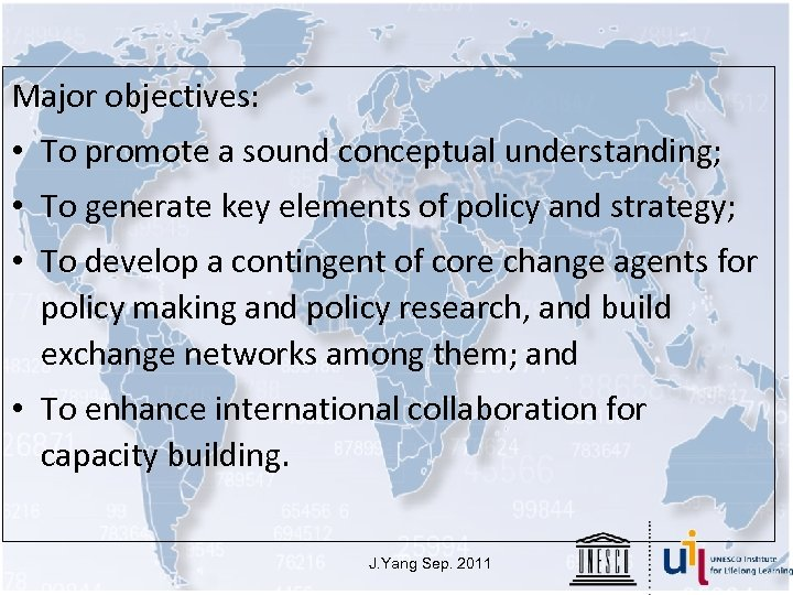 Major objectives: • To promote a sound conceptual understanding; • To generate key elements