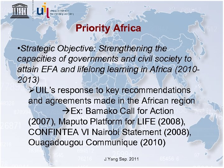 Priority Africa • Strategic Objective: Strengthening the capacities of governments and civil society to