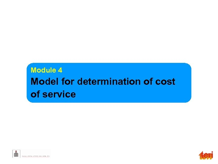 Module 4 Model for determination of cost of service