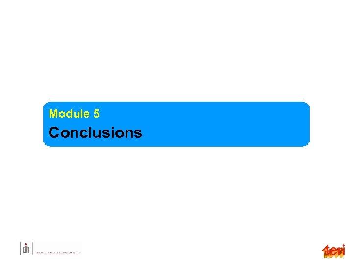 Module 5 Conclusions