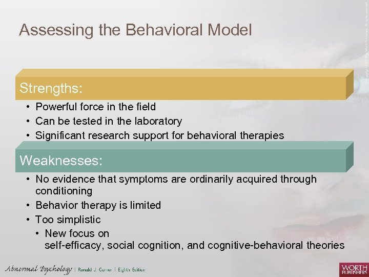 models of abnormality Biological and psychological models of abnormality  introduction the many different models used to explain the nature and treatment of mental illness compound the problems of defining and classifying abnormal behaviour.