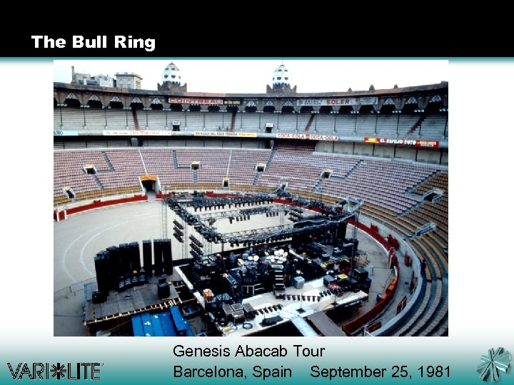 The Bull Ring Genesis Abacab Tour Barcelona, Spain September 25, 1981