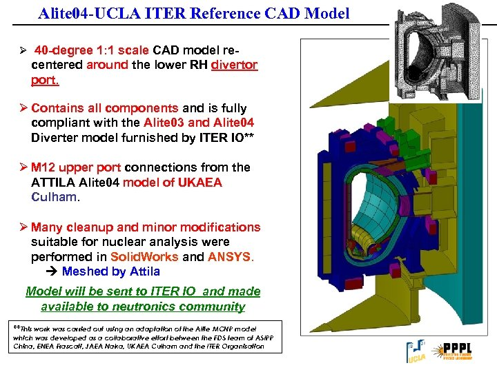 Alite 04 -UCLA ITER Reference CAD Model Ø 40 -degree 1: 1 scale CAD