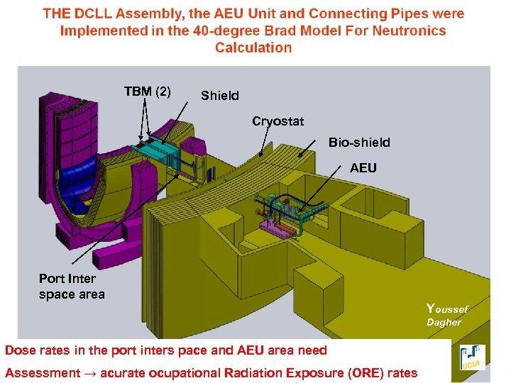 TBM (2) Shield Cryostat Bio-shield AEU Port Inter space area Youssef Dagher Dose rates